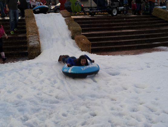 Kid Snow Sledding