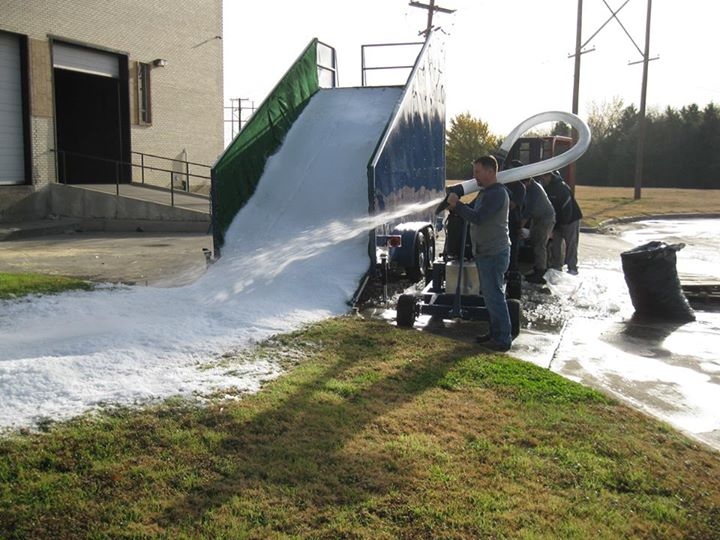 Snow Slide for artificial snow party