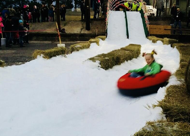 Snow party slide
