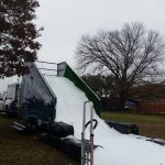 Snow slide for sledding in Texas