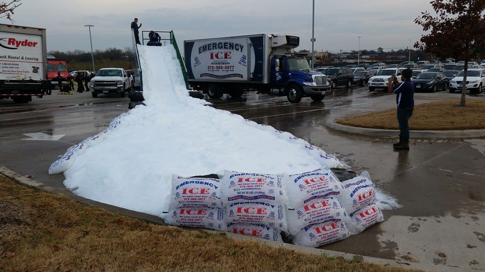 Order snow for a party