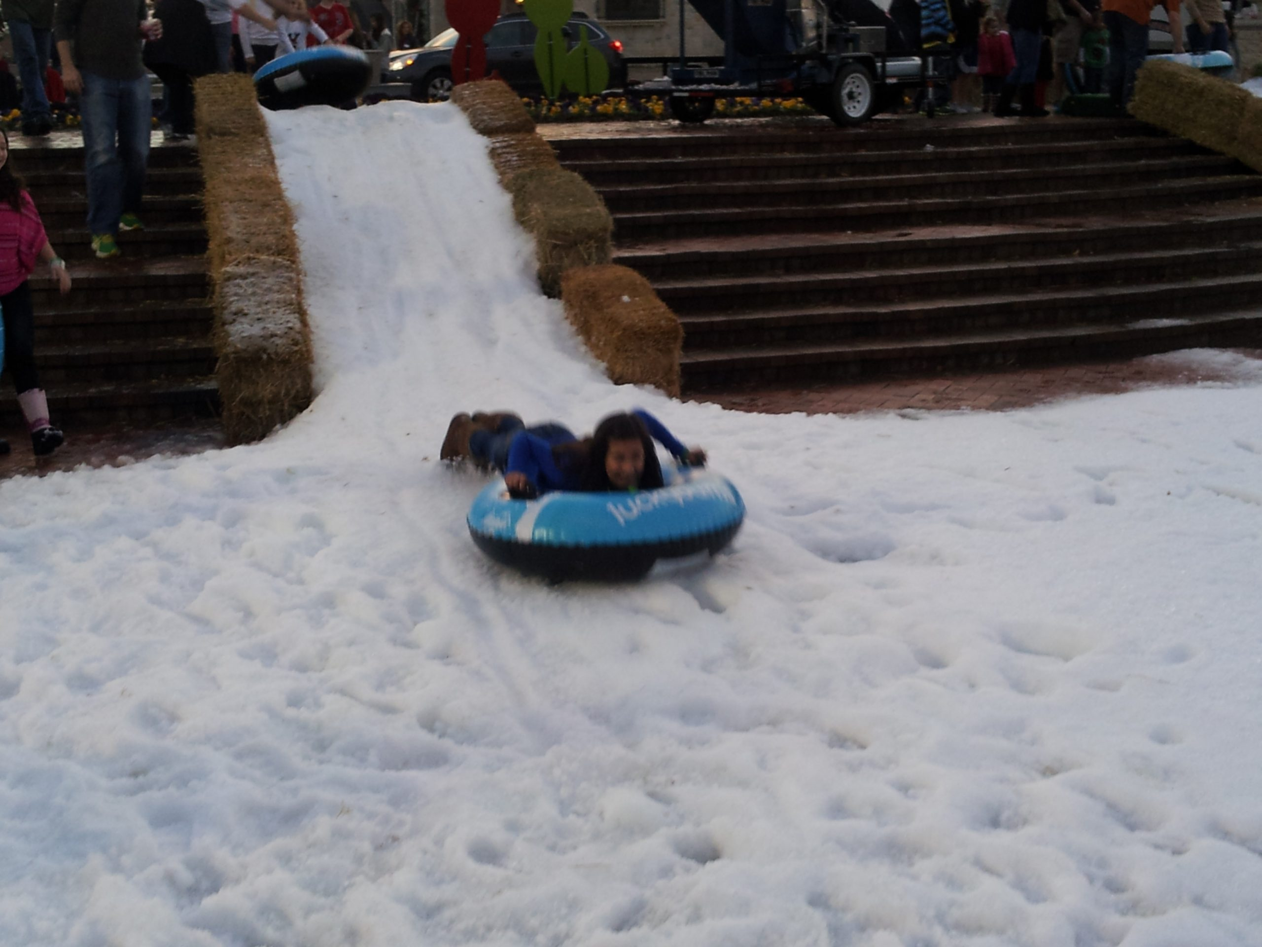 Snow tubing in Texas